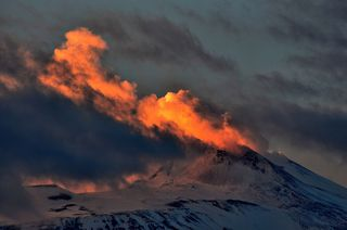 Steamy Sunset on Mount Etna