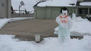 Hula dancer snowman