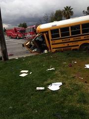 School bus crash in CA