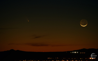 Panstarrs Comet from Albuquerque NM