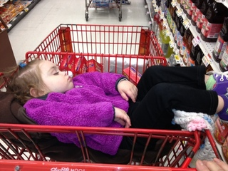 Sleepy Baby- too tired to Shop!