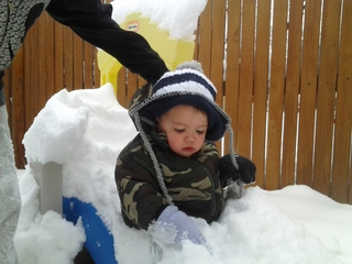 April snow day with Gabriel