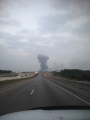 Fertilizer Plant Smoke Plume