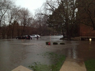 Lisle Station Apartments Flooded