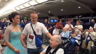 JROTC Cadet Surprised and Cheered by World War II and Korean War Vets