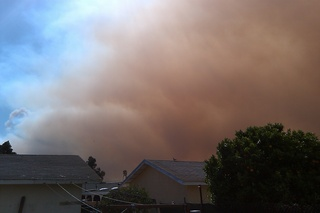California brush fire
