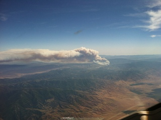 Wildfire near Bakersfield California