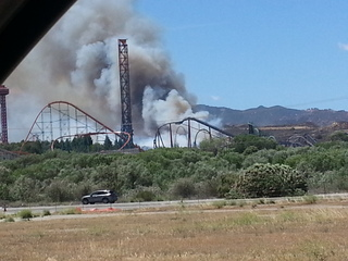 Fire in Valencia, CA.