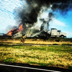 Fire from Truck on I-35