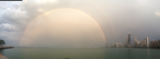 Rainbow over Lake Michigan