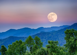Super Moon - Asheville, North Carolina
