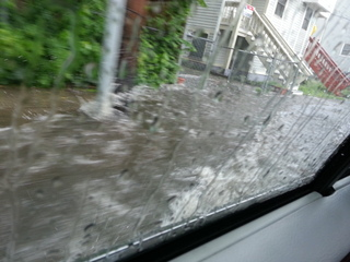 Flooding in Dorchester MA .