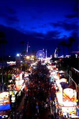 Del Mar Fair at night!