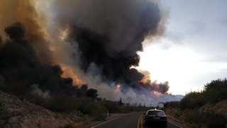 Shipman fire near Kearny, Arizona