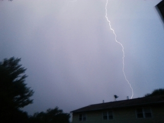 Amazing Lightning strike in Bel Air, MD