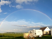 Rainbow at Plage Hirondelle near Shediac New Brunswick