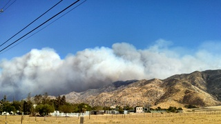 Wildland fire Banning California