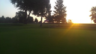Sunrise on the golf course
