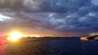 Sunset on Lake Pleasant