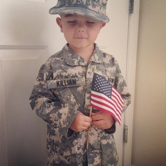 Our Patriotic Grandson!