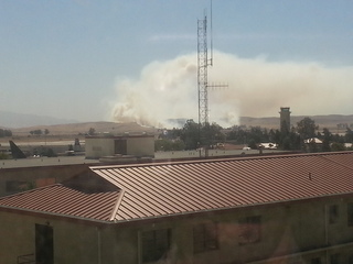 Hwy 12 Fire from Travis Air Force Base