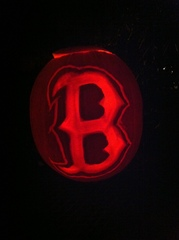 Go Red Sox! Pumpkin style