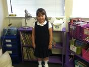 Emily Mae Jenkin's first day of kindergarten