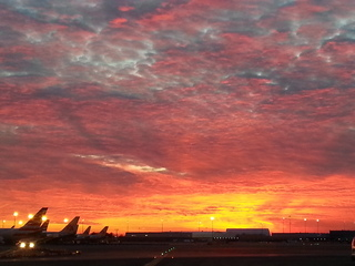 Sunset at JFK airport