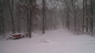 Snow in Alton, Missouri