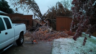 Ice Damage at our home in Wylie, Tx