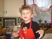 My main man cooking