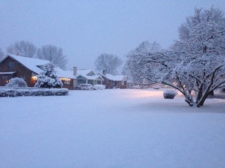 Beautiful snow covered morning in Catlin, IL