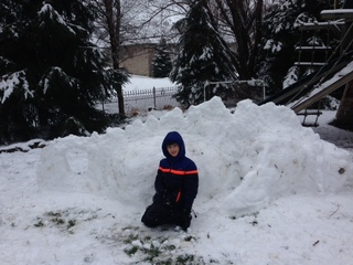 Mythical snow monster by 10 yr old justin