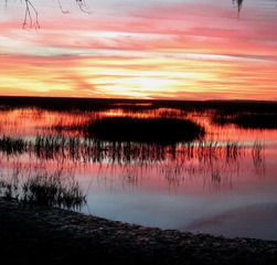 Weather/sunrise over Eastern Coastal Marsh, Savannah, GA