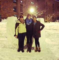 Snow fort at Virginia Tech