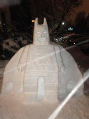Lego Batman Snow Sculpture