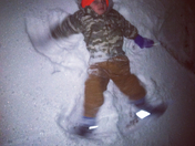 My nephew's first snow Angel in February 2014. Bentley