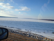 Saylorville Lake Frozen Over