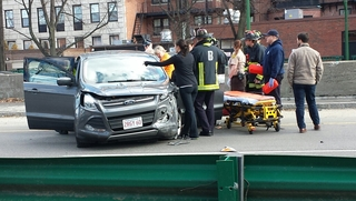 Car accident in Charles River