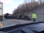 Truck overturns on 119 & 43 in Uniontown PA