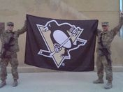 Cheering on the Penguins in Afghanistan