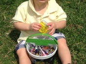 Victor after the egg hunt!