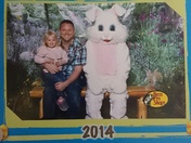 Aubrey & Daddy with the Easter Bunny