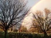 rainbow over Lancaster Cemetery