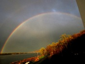 Yesterday's amazing rainbow over the river