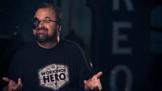 Frank Frtiz From American Pickers with Workshop Hero celebrate Talk Like A Pirat