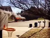 Car fire Liberty, MO