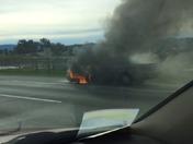 Car fire on Hwy 101