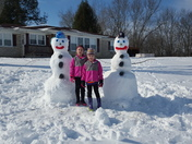 Morgan and Marlee Ryan enjoying another school day off in Green co