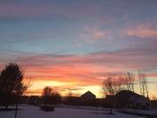 sunset  in Cumberland county/Feb. 4